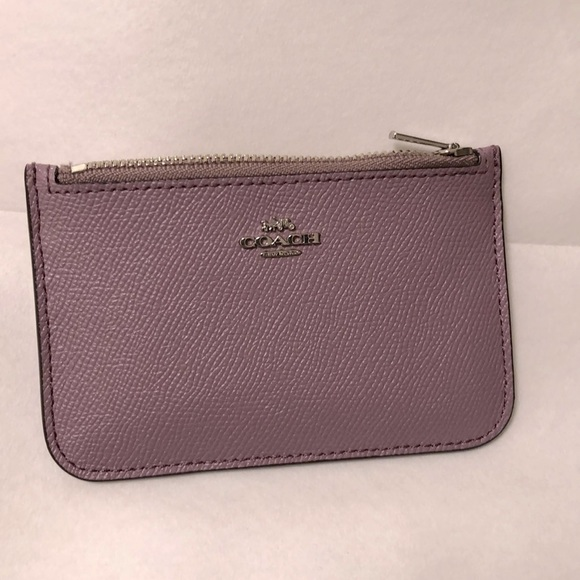 Coach card case / card holder with zip